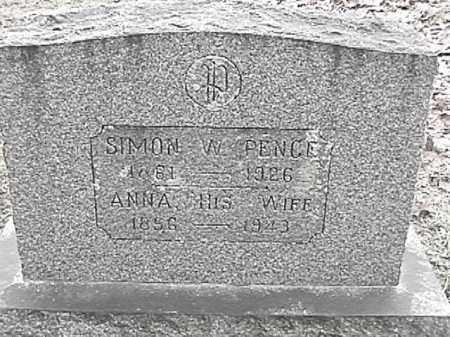 PENCE, ANNA - Champaign County, Ohio   ANNA PENCE - Ohio Gravestone Photos