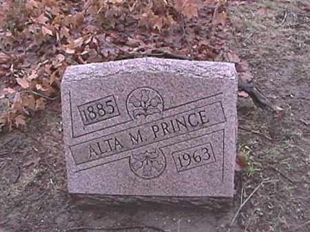 PRINCE, ALTA M. - Champaign County, Ohio   ALTA M. PRINCE - Ohio Gravestone Photos