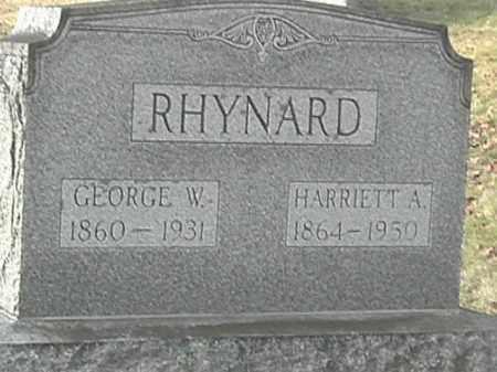 RHYNARD, HARRIETT A. - Champaign County, Ohio | HARRIETT A. RHYNARD - Ohio Gravestone Photos