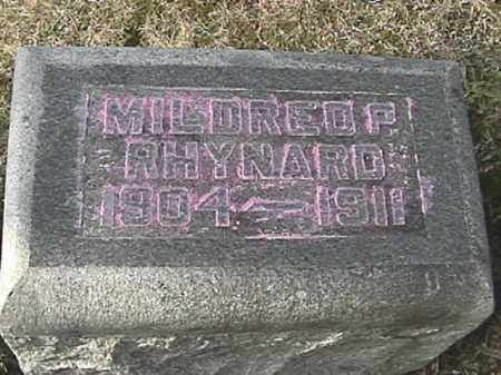 RHYNARD, MILDRED P. - Champaign County, Ohio | MILDRED P. RHYNARD - Ohio Gravestone Photos