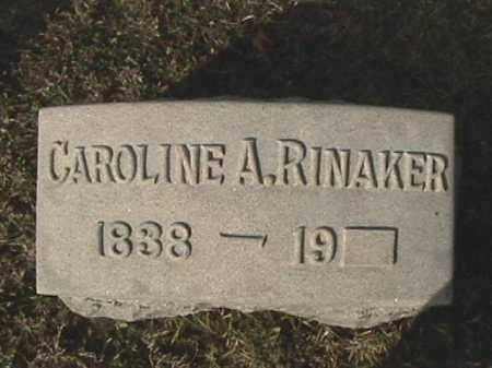 HANBACK RINAKER, CAROLINE A. - Champaign County, Ohio | CAROLINE A. HANBACK RINAKER - Ohio Gravestone Photos