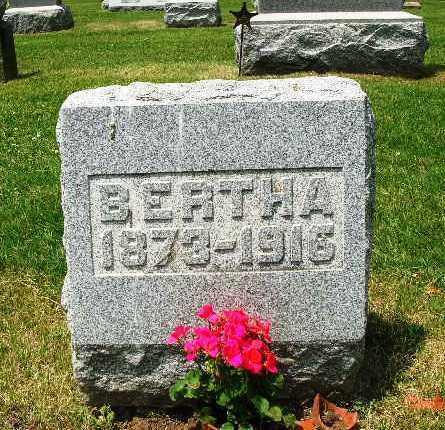 ROMINE ROMINE, BERTHA - Champaign County, Ohio | BERTHA ROMINE ROMINE - Ohio Gravestone Photos