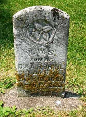 ROMINE, W.W.S. - Champaign County, Ohio   W.W.S. ROMINE - Ohio Gravestone Photos