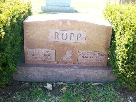 ROPP, GRACE KIBLER - Champaign County, Ohio | GRACE KIBLER ROPP - Ohio Gravestone Photos