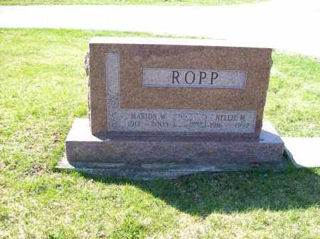 ROPP, NELLIE M. SHAFFNER - Champaign County, Ohio | NELLIE M. SHAFFNER ROPP - Ohio Gravestone Photos