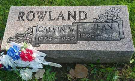ROWLAND, LILLIAN JEAN - Champaign County, Ohio | LILLIAN JEAN ROWLAND - Ohio Gravestone Photos