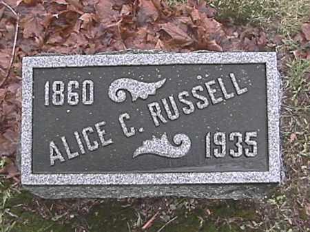 RUSSELL, ALICE C. BODY - Champaign County, Ohio   ALICE C. BODY RUSSELL - Ohio Gravestone Photos
