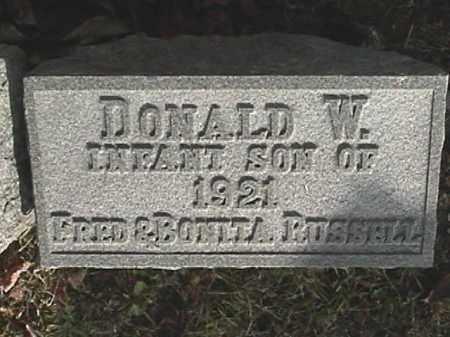 RUSSELL, DONALD W. - Champaign County, Ohio   DONALD W. RUSSELL - Ohio Gravestone Photos