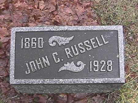 RUSSELL, JOHN CALVIN - Champaign County, Ohio   JOHN CALVIN RUSSELL - Ohio Gravestone Photos