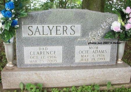 ADAMS SALYERS, OCIE - Champaign County, Ohio | OCIE ADAMS SALYERS - Ohio Gravestone Photos