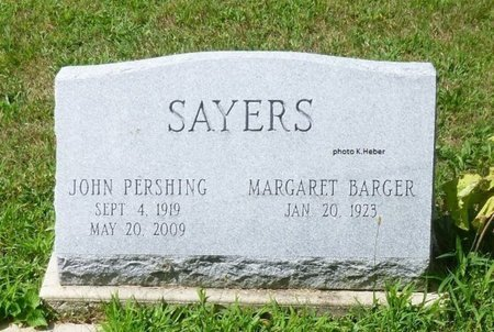 BARGER SAYERS, MARGARET - Champaign County, Ohio   MARGARET BARGER SAYERS - Ohio Gravestone Photos