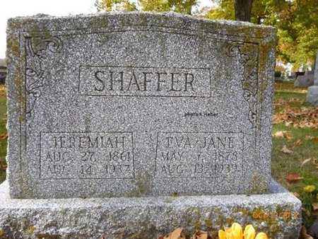 SHAFFER, EVA ELIZA JANE - Champaign County, Ohio | EVA ELIZA JANE SHAFFER - Ohio Gravestone Photos