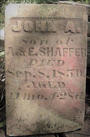 SHAFFER, JOHN A - Champaign County, Ohio   JOHN A SHAFFER - Ohio Gravestone Photos