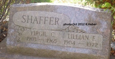 SHAFFER, LILLIAN FRANCES - Champaign County, Ohio | LILLIAN FRANCES SHAFFER - Ohio Gravestone Photos