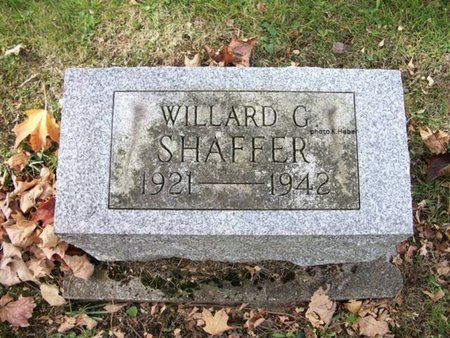 SHAFFER, WILLARD GARNER - Champaign County, Ohio | WILLARD GARNER SHAFFER - Ohio Gravestone Photos