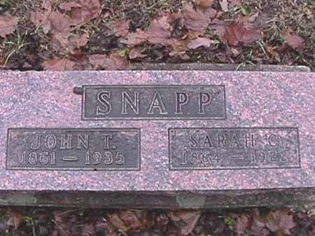 SNAPP, JOHN T. - Champaign County, Ohio   JOHN T. SNAPP - Ohio Gravestone Photos