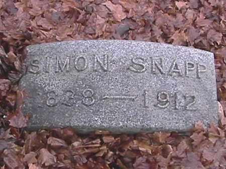 SNAPP, SIMON - Champaign County, Ohio | SIMON SNAPP - Ohio Gravestone Photos