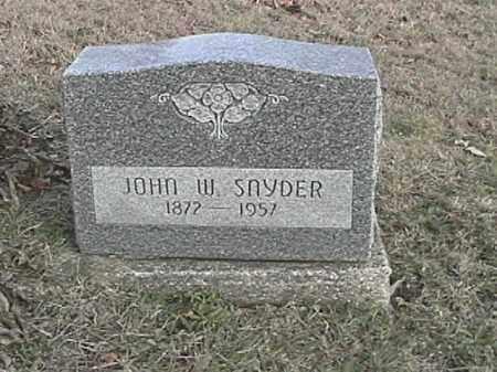 SNYDER, JOHN WESLEY - Champaign County, Ohio | JOHN WESLEY SNYDER - Ohio Gravestone Photos