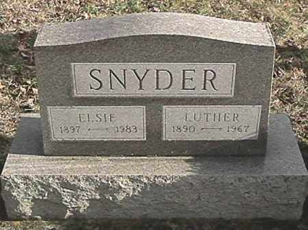 SNYDER, LUTHER - Champaign County, Ohio | LUTHER SNYDER - Ohio Gravestone Photos