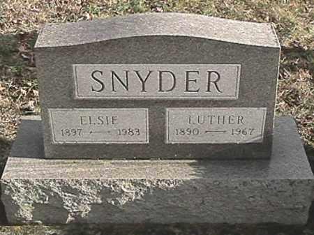 IRVIN SNYDER, ELSIE - Champaign County, Ohio | ELSIE IRVIN SNYDER - Ohio Gravestone Photos