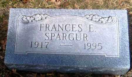 SPARGUR, FRANCES E. - Champaign County, Ohio   FRANCES E. SPARGUR - Ohio Gravestone Photos
