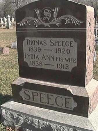 SPEECE, THOMAS MCINTIRE - Champaign County, Ohio   THOMAS MCINTIRE SPEECE - Ohio Gravestone Photos