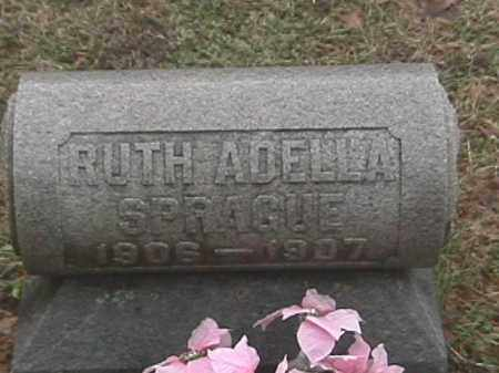 SPRAGUE, RUTH ADELLA - Champaign County, Ohio | RUTH ADELLA SPRAGUE - Ohio Gravestone Photos