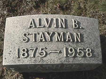 STAYMAN, ALVIN BERTRAM - Champaign County, Ohio   ALVIN BERTRAM STAYMAN - Ohio Gravestone Photos