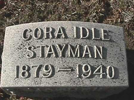 IDLE STAYMAN, CORA ELIZABETH - Champaign County, Ohio | CORA ELIZABETH IDLE STAYMAN - Ohio Gravestone Photos