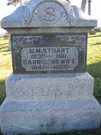 STUART, N.M. - Champaign County, Ohio | N.M. STUART - Ohio Gravestone Photos