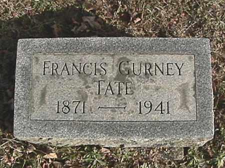 TATE, FRANCIS GURNEY - Champaign County, Ohio   FRANCIS GURNEY TATE - Ohio Gravestone Photos
