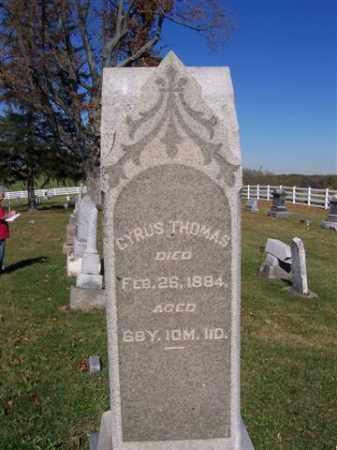 THOMAS, CYRUS - Champaign County, Ohio | CYRUS THOMAS - Ohio Gravestone Photos