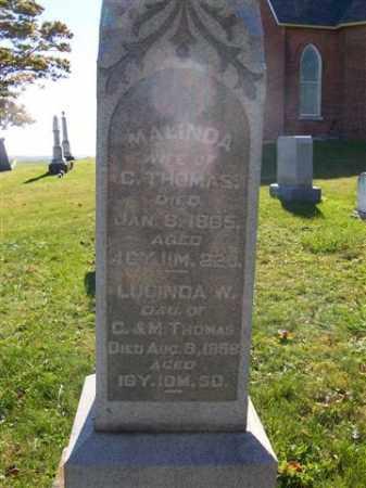 THOMAS, LUCINDA - Champaign County, Ohio | LUCINDA THOMAS - Ohio Gravestone Photos