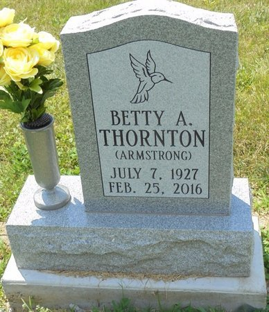 ARMSTRONG THORNTON, BETTY ANN - Champaign County, Ohio | BETTY ANN ARMSTRONG THORNTON - Ohio Gravestone Photos