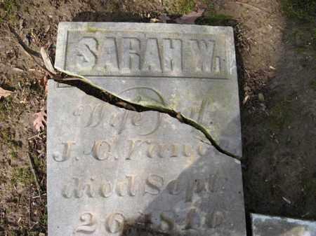 WILSON VANCE, SARAH - Champaign County, Ohio | SARAH WILSON VANCE - Ohio Gravestone Photos