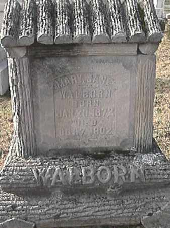 BRIGHTON WALBORN, MARY JANE - Champaign County, Ohio   MARY JANE BRIGHTON WALBORN - Ohio Gravestone Photos