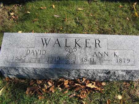 WALKER, ANN K. - Champaign County, Ohio | ANN K. WALKER - Ohio Gravestone Photos
