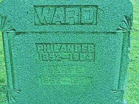 WARD, PHILANDER - Champaign County, Ohio | PHILANDER WARD - Ohio Gravestone Photos