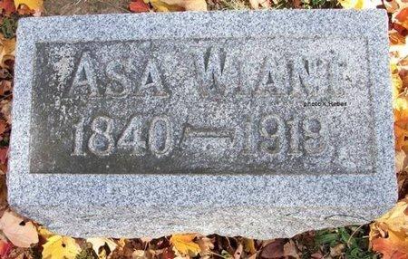WIANT, ASA - Champaign County, Ohio   ASA WIANT - Ohio Gravestone Photos
