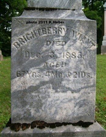 WIANT, BRIGHTBERRY - Champaign County, Ohio | BRIGHTBERRY WIANT - Ohio Gravestone Photos