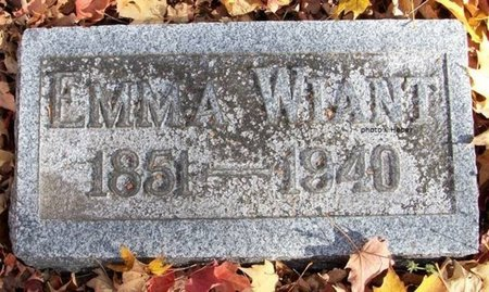 WIANT, EMMA - Champaign County, Ohio | EMMA WIANT - Ohio Gravestone Photos