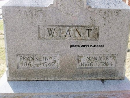 WIANT, FRANKLIN EMERSON - Champaign County, Ohio | FRANKLIN EMERSON WIANT - Ohio Gravestone Photos