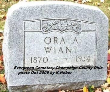 WIANT, ORA AMANDA - Champaign County, Ohio | ORA AMANDA WIANT - Ohio Gravestone Photos