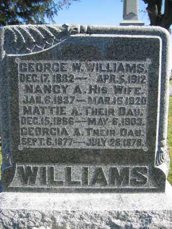 WILLIAMS, GEORGIA A. - Champaign County, Ohio | GEORGIA A. WILLIAMS - Ohio Gravestone Photos
