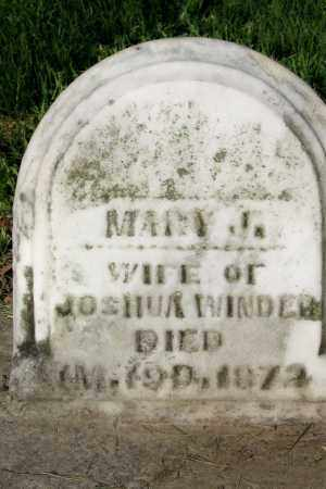 APPLE WINDER, MARY - Champaign County, Ohio   MARY APPLE WINDER - Ohio Gravestone Photos