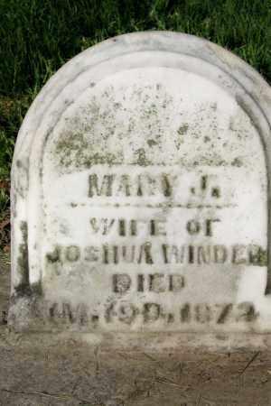APPLE WINDER, MARY - Champaign County, Ohio | MARY APPLE WINDER - Ohio Gravestone Photos
