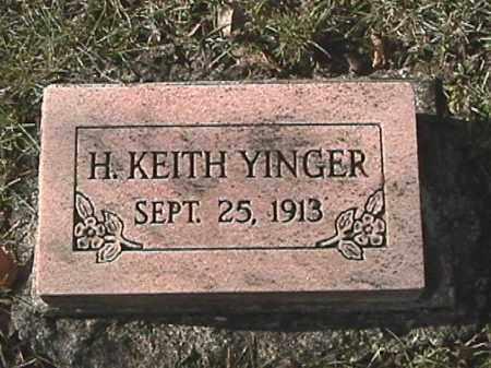 YINGER, H. KEITH - Champaign County, Ohio | H. KEITH YINGER - Ohio Gravestone Photos