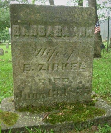 ZIRKEL, BARBARA ANN - Champaign County, Ohio | BARBARA ANN ZIRKEL - Ohio Gravestone Photos