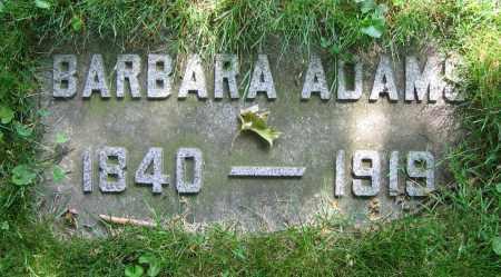ADAMS, BARBARA - Clark County, Ohio   BARBARA ADAMS - Ohio Gravestone Photos