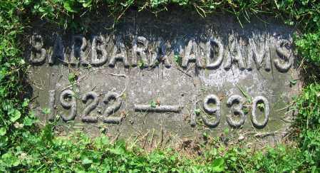 ADAMS, BARBARA - Clark County, Ohio | BARBARA ADAMS - Ohio Gravestone Photos